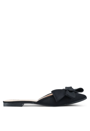 Nose black Bow Flat Mules 6E5D6SHA8635C7GS_1