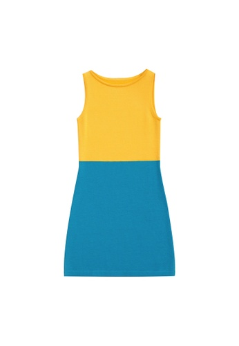 KLAPS yellow Two-tone Dress C3C10AAACF2F7FGS_1