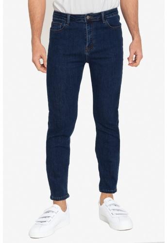 ZALORA BASICS 藍色 Skinny Fit Jeans 3E22FAA49630CBGS_1