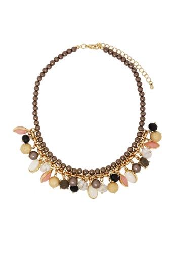 Jaysa Collection brown Princess Charm Necklace JA875AC0F7HYSG_1