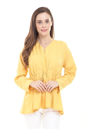 Rina Nichie Basic yellow Melly Top in Yellow 96082AA2E92085GS_1