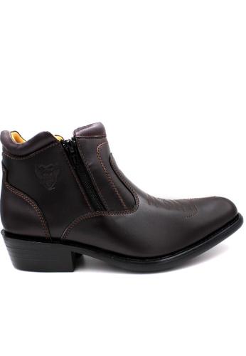 midzone brown EAGLE HUNTER Handmade Genuine Leather Boots C1721SH6BD1DCDGS_1