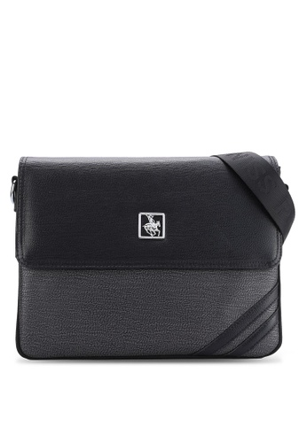 Swiss Polo black Swiss Polo Messenger Bag SW912AC50MUVMY_1