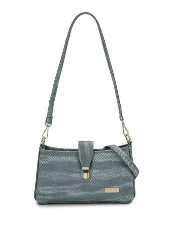 Verchini blue Verchini Embellished Push-Lock Crossbody Bag 378C5ACD112624GS_1