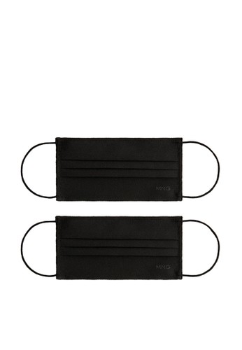 Mango black 2 Pack Reusable Homologated Facemask E2DB2ESA28B859GS_1