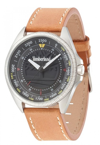 Timberland brown Timberland Sawyer Tan 44 mm Men's Watches (TBL.14505JS/02) TI063AC38EKFMY_1