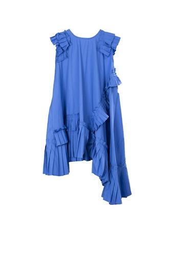 Twenty Eight Shoes blue VANSA Irregular Pleated Midi Dress  VCW-D1111 7387BAA182480EGS_1