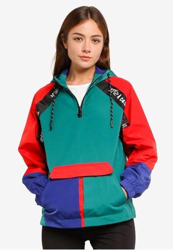 Desigual red Waterproof Urban Rain Jacket With Hood F238EAA139FA9CGS_1