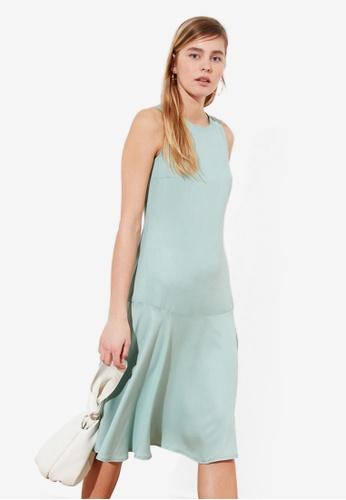 Trendyol green Knee Length Flywheel Dress 6C011AA695E386GS_1