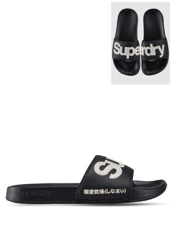 Superdry 黑色 閃亮拖鞋 B4FA0SH79D9467GS_1