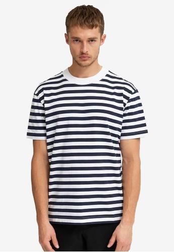 Selected Homme white Stripe Tee B2DAFAA0D6B688GS_1
