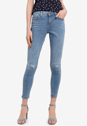 Dorothy Perkins blue Darcy Ankle Grazer Jeans (Short Fit) 01AD8AA6222F97GS_1