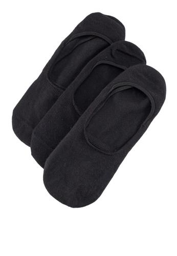 MANGO Man black Invisible Socks 3 Pack 20A0BAAF6B45B7GS_1