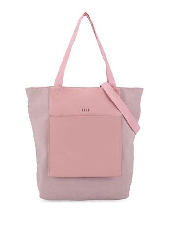 ELLE pink Esme Shopper Bag D2153AC57C4FE9GS_1