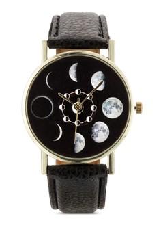 月相顯示圓錶
