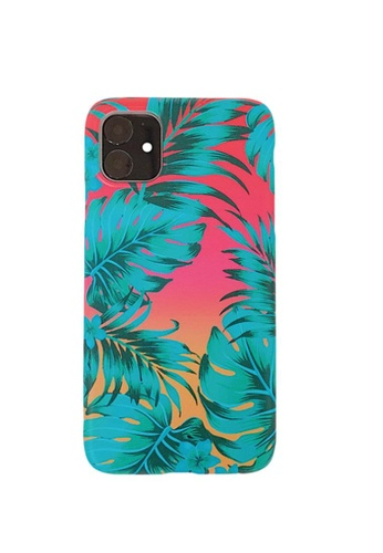 Kings Collection green Red Bottom Leaves iPhone 12 Pro / 12 Case (UPKCMCL2140) 1878AACD24FB7CGS_1
