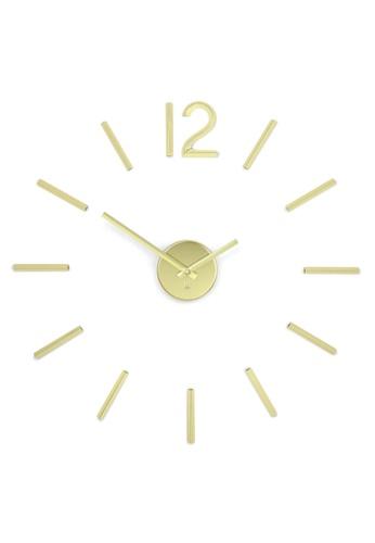 Umbra gold Blink Modern DIY 3D Wall Clock 8C7A7HL4C4E672GS_1