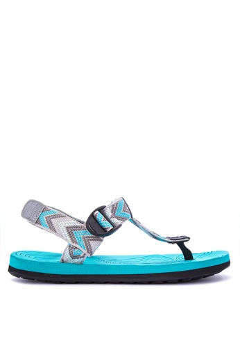 Krooberg blue and multi Radial Duo Sandals 79018SH6517ECEGS_1
