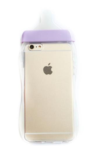 Fancy Cellphone Cases purple Milk Bottle Soft Transparent Case for iPhone 6plus/6splus                         FA644AC52VJZPH_1