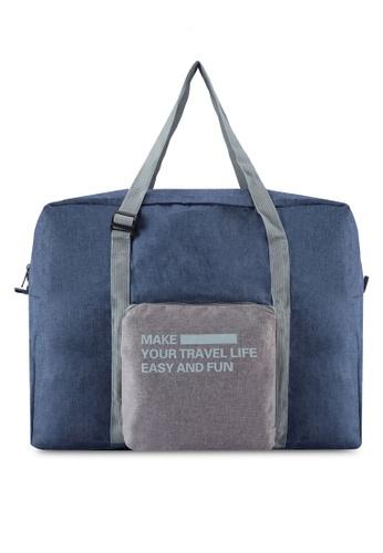 Bagstationz blue Foldable Travel BigBag BA607AC24SHFMY_1