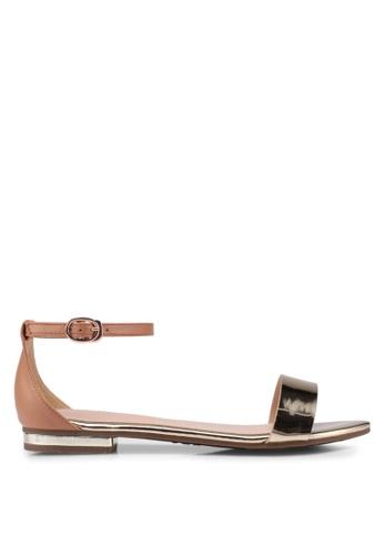 prettyFIT gold Metallic Flat Sandals D84FASHA5E53E3GS_1