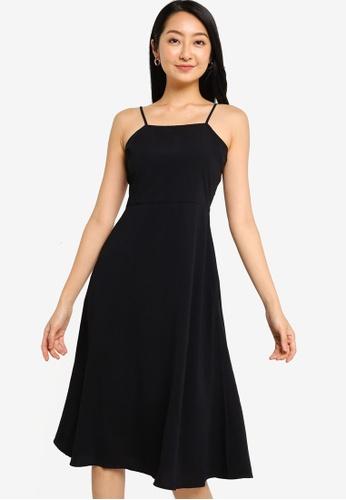 ZALORA BASICS 黑色 方領洋裝 75EE2AA521B4C0GS_1