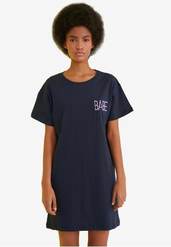 Trendyol navy Babe T-Shirt Dress E6FA2AA263376FGS_1