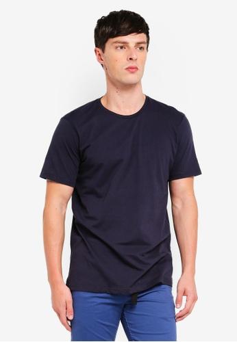 Cotton On 海軍藍色 Basic 圓領T恤 E5837AA8C3F2E6GS_1