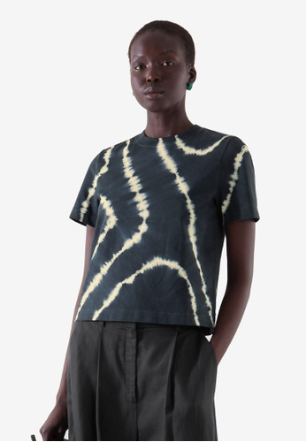 Cos black and white Slim-Fit T-Shirt C2EFAAACDBDFD1GS_1