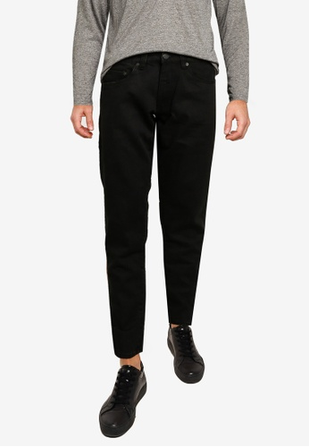 Electro Denim Lab black Cropped Tapered Jeans A2D6FAA9413DF2GS_1