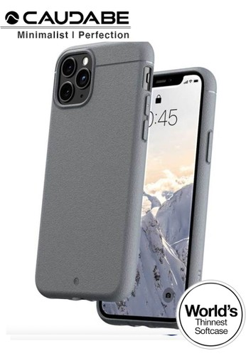 "Caudabe grey Case iPhone 11 Pro Max 6.5"" - Caudabe Sheath Softcase Slim Casing - Gray 265CAES704B75EGS_1"