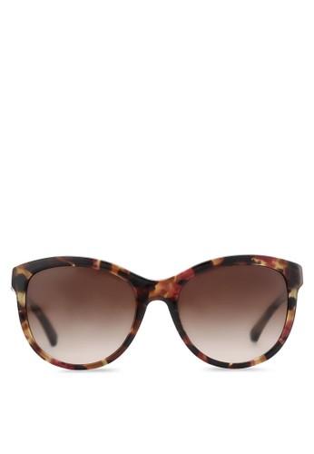 印花圓框太陽眼鏡, 飾品配件zalora 手錶, 飾品配件