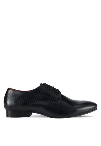 Acuto black Leather Panel Dress Shoes AC283SH0SL6ZMY_1