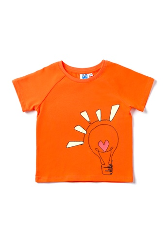 Vauva orange Vauva Hauska Boys Smart Light Tee - Orange ECA55KA7F5752DGS_1