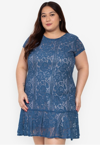 283ff51b5d4f Shop Divina Plus Size Lace Shift Dress Online on ZALORA Philippines