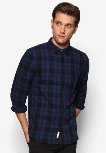格紋長袖襯衫、 服飾、 服飾RiverIsland格紋長袖襯衫最新折價