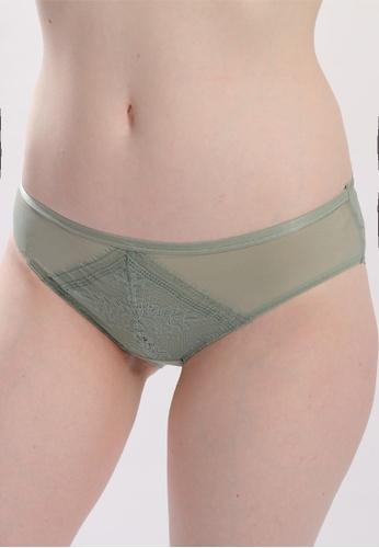 QuestChic green Dama Sheer Soft Lace Brief 0741FUSAAA434CGS_1
