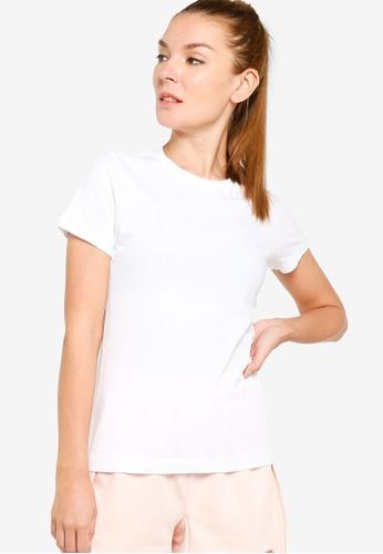 Nike white Short Sleeves Crew Neck T-Shirt D9FBBAAF594D78GS_1