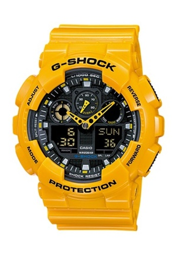 G-shock black and yellow CASIO G-SHOCK GA-100A-9A 5A07EACDDD3353GS_1