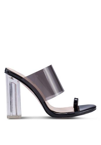 Exposed Slide On Mule Heels