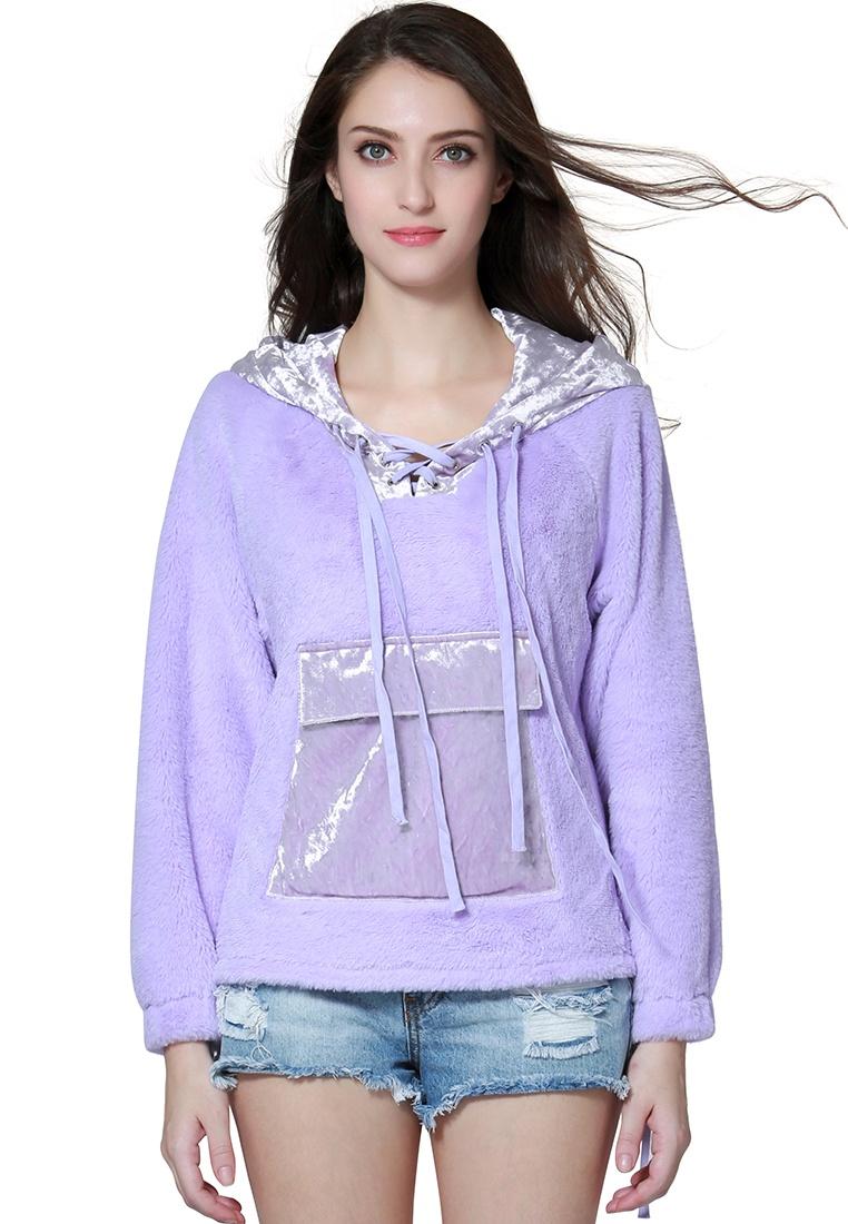Purple London Purple Rag Hoodie Fur nI8qzYxwOa