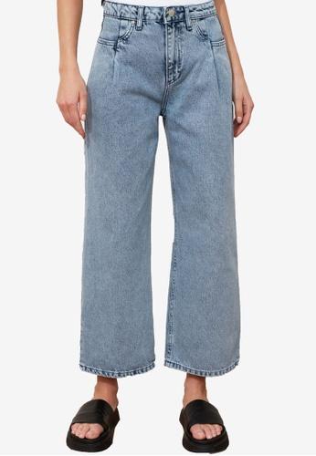 Trendyol blue High Waist Culotte Jeans B2341AA0D00026GS_1