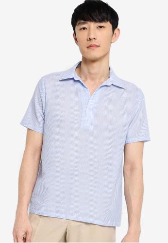 ZALORA BASICS multi Seersucker Short Sleeve Shirt 97B26AA6CA7B66GS_1