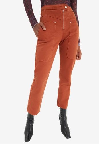 Trendyol orange High Waist Mom Jeans 212BFAAD8137CFGS_1
