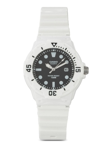 Casio white Casio Women's White Resin Strap Watch LRW-200H-1EVDF CA843AC28XJVMY_1