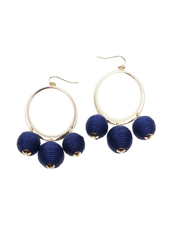 LUCCACAL blue Corsica Pom Pom Earrings 87F0CAC83A9881GS_1