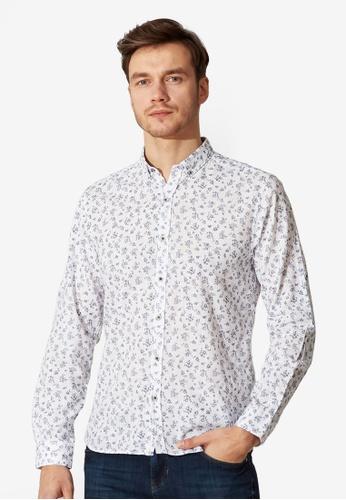 LC Waikiki white Slim Fit Floral Shirt 5BBE8AA38C2BECGS_1