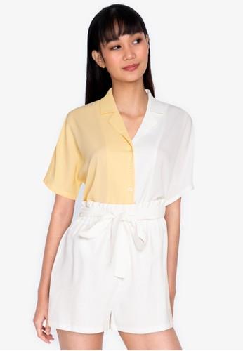 ZALORA BASICS multi Colourblock Shirt 2DC3AAABEFA86AGS_1