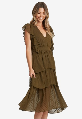 The Fated green Lets Dance Tiered Dress 3B4EEAA48B1257GS_1