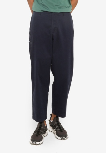 Timberland blue Wide Leg Twill Pants 84897AAC06D34CGS_1